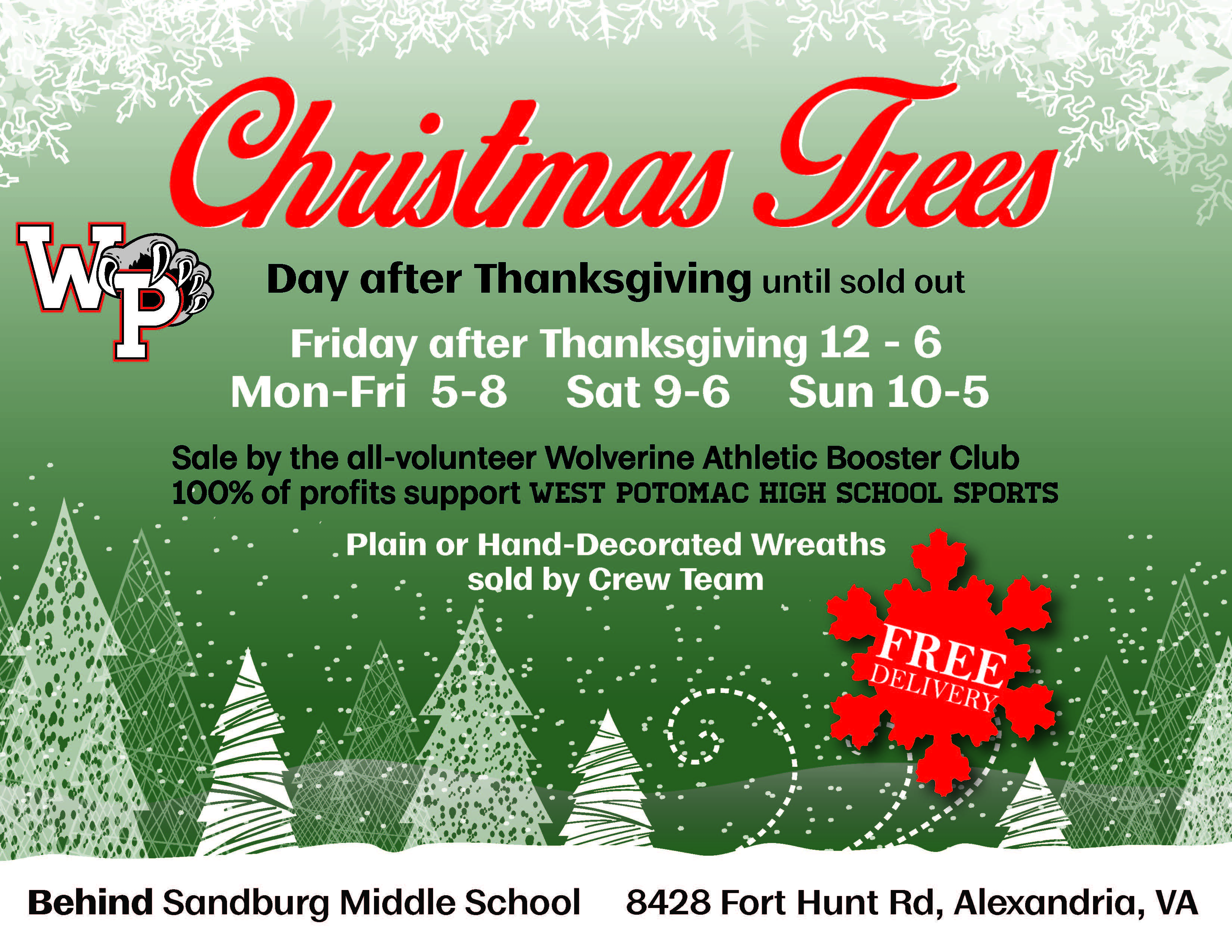 Christmas Tree Wreath Sale Wabc Fundraiser West Potomac High